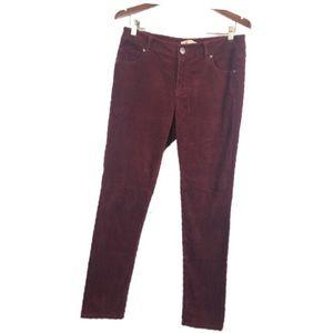 Cabi Burgundy Corduroys Pants Size 8